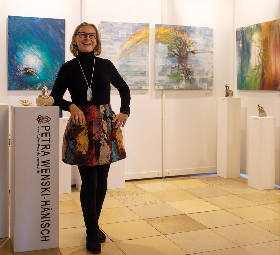 Petra Wenski-Hänisch beim Internationalen Kunstsalon 2019